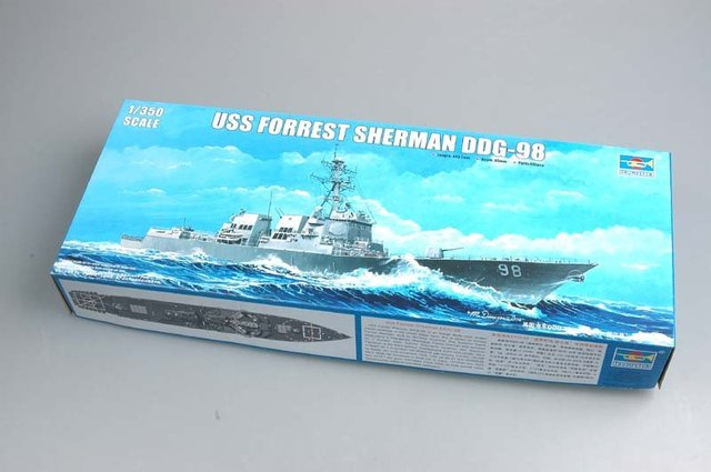 Trumpeter model 04528 1/350 USS Forrest Sherman DDG-98 plastic model kit