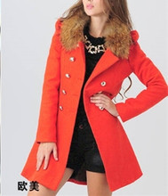 Exquisite Workmanship Women Winter Warm Large Faux Fur Collar Wool Jackets Coats Fashion For Lady With Hood OverCoat Outwear