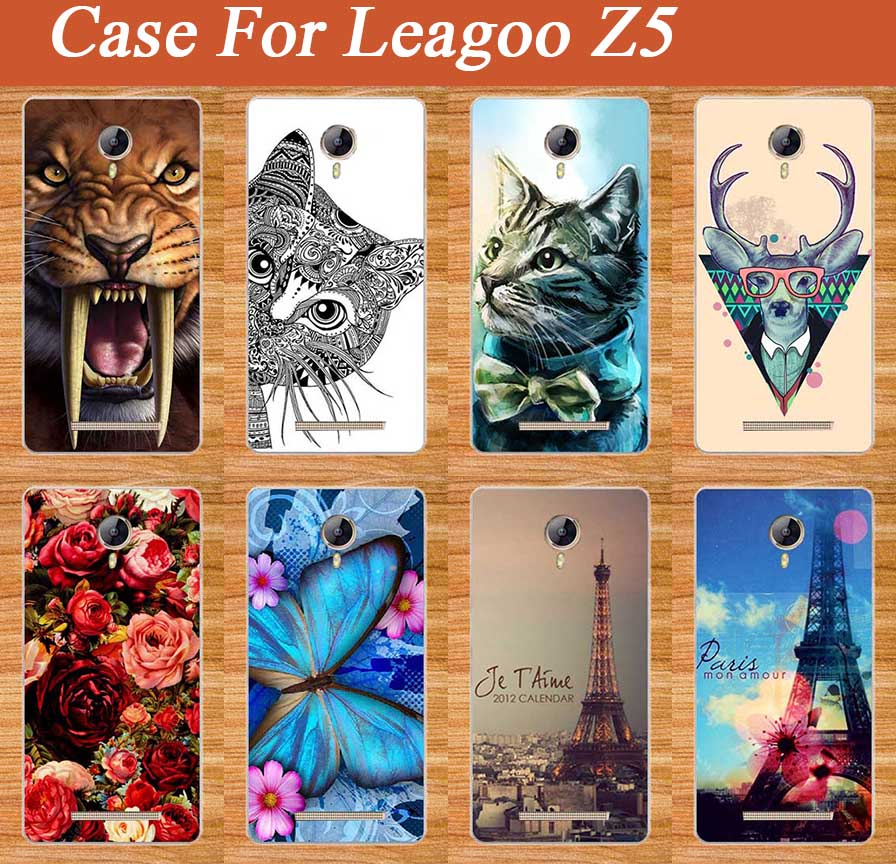 Popular Patterns Painting Case For Leagoo Z5 soft TPU Cover Beautiful Flower Stylish Fashion For Leagoo Z 5 tpu Case Cover Shell(China (Mainland))