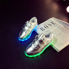 25-35 Size 7 Colors led shoes kids light up glowing shoes for boys&girls basket led children luminous sneakers lighting enfants(China (Mainland))