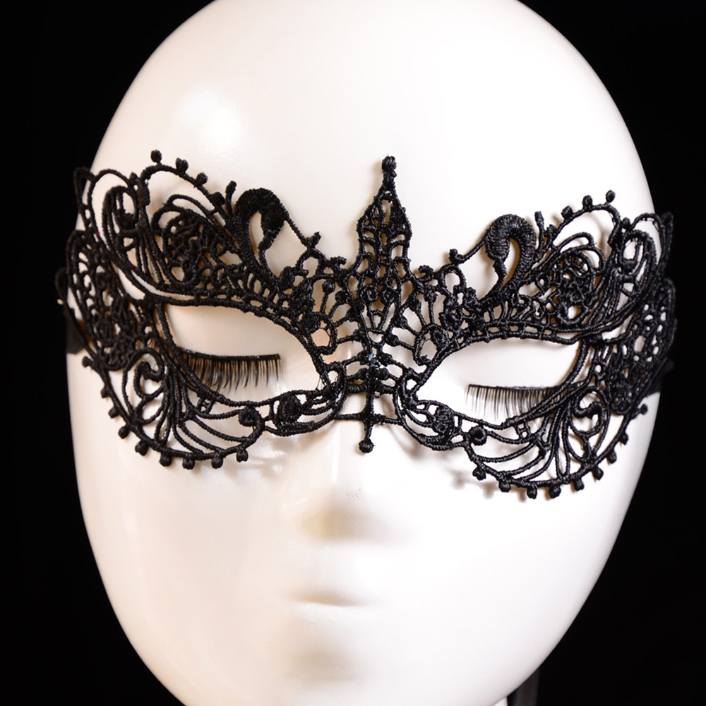 Sexy Lady Lace Mask Party Mask Black Lace Goggles Half Face Mask ...