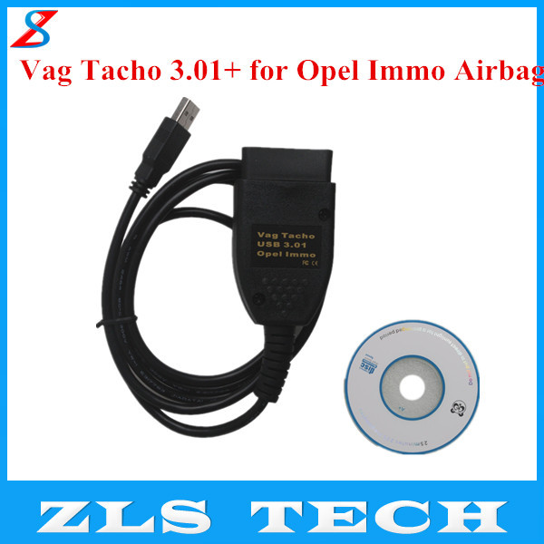 USB Vag Tacho 3.01+ for Opel Immo Airbag VAG OBD2 Diagnostic Tool EEPROM IMMO PIN Mileage Correction with High Quality(China (Mainland))