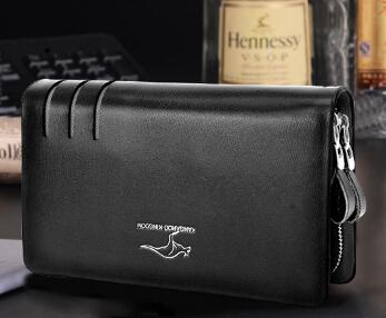 QB 13 new 2014 Fashion Casual Business brand genuine leather wallet men clutch Wallet men s