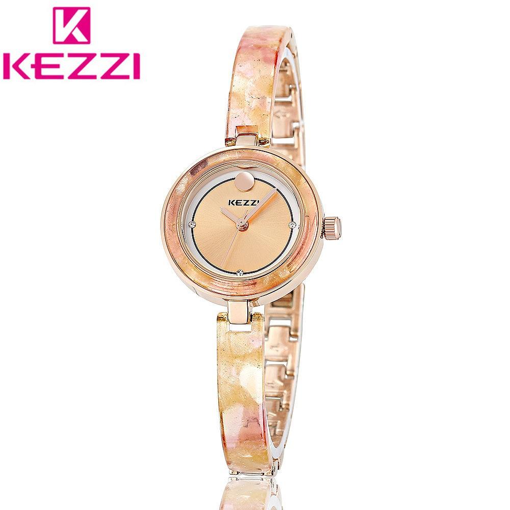 KEZZI KW1203 Люксовый Бренд Женская Золотой Браслет Наручные Часы Дамы Часы Моды Кварцевые Часы Relogio Feminino KZ88