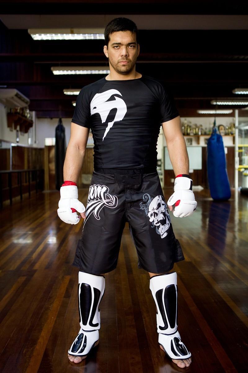 2014 MMA tshirt men's short-sleeved Boxing compression T-shirt MMA Fight Fitness T SHIRT Boxing Thai Lyoto Machida Signature(China (Mainland))