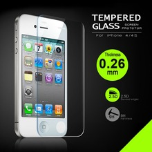4S 2.5D 0.26mm 9H Premium Tempered Glass For iPhone 4S 4 4G With Retail Package Screen Anti Shatter Protector Film For iphone4S