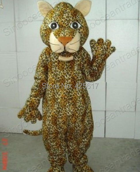 Factory direct!New LEOPARD PANTHER CHEETAH CATAMOUNT Cartoon Fancy Dress Suit Outfit Animal Mascot Costume - Sam's World store