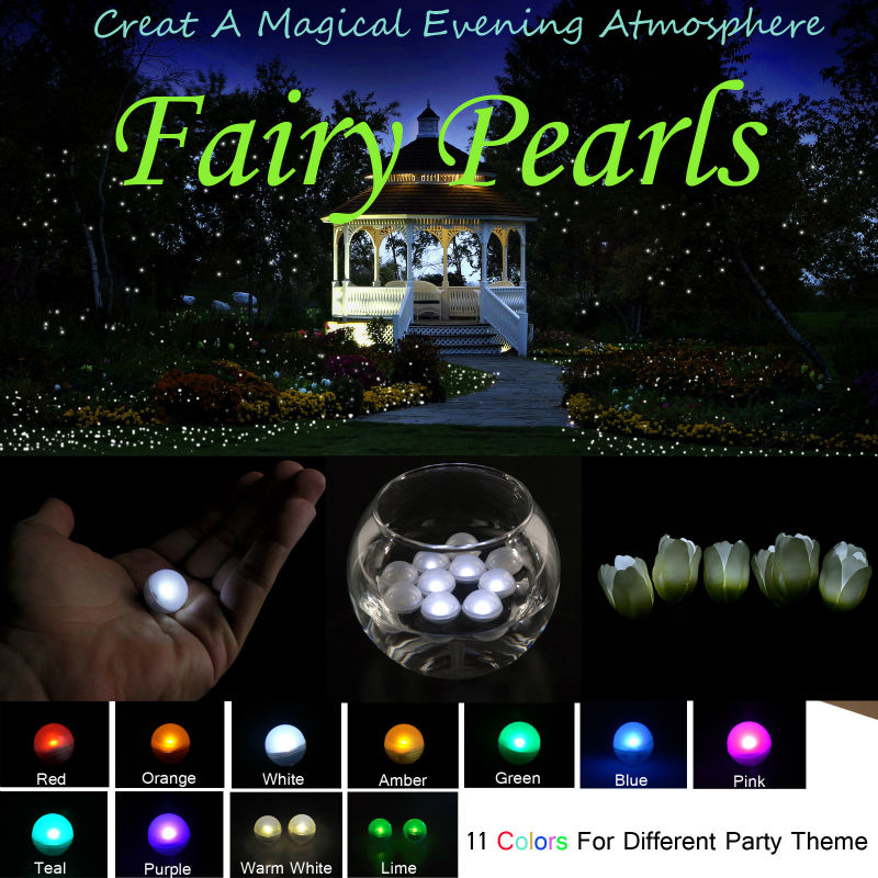 Fairy Pearls!!! Battery Operated Mini Twinkle LED Light Berries 2CM Floating LED Ball For Wedding Party Events Decoration Light(China (Mainland))