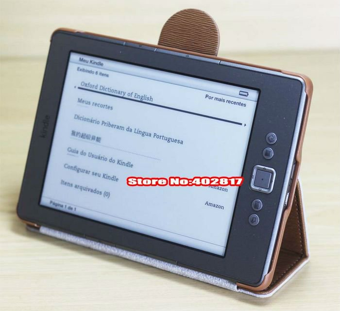 Leather Kindle 4 case for Amazon new kindle 4 4G leather case pouch for kindle4 ,Wholesale 10pcs/lot(China (Mainland))