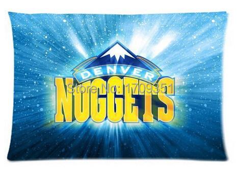 Fantasy Pillowcase Denver Nuggets Cool Pillow Cases 20x30 Inch Party Gift (One Side)(Cotton/Polyester)(China (Mainland))