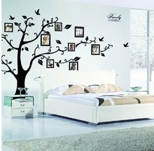 family photo frame Flying Birds tree wall stickers arts home decorations living room Bedroom decals posters pvc wall decal(China (Mainland))