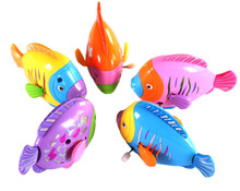 Funny Swimming Pool Toys For Baby Kids Bath Toys Clockwork Wind Up Plastic Fish Baby Not Afraid To Take bath