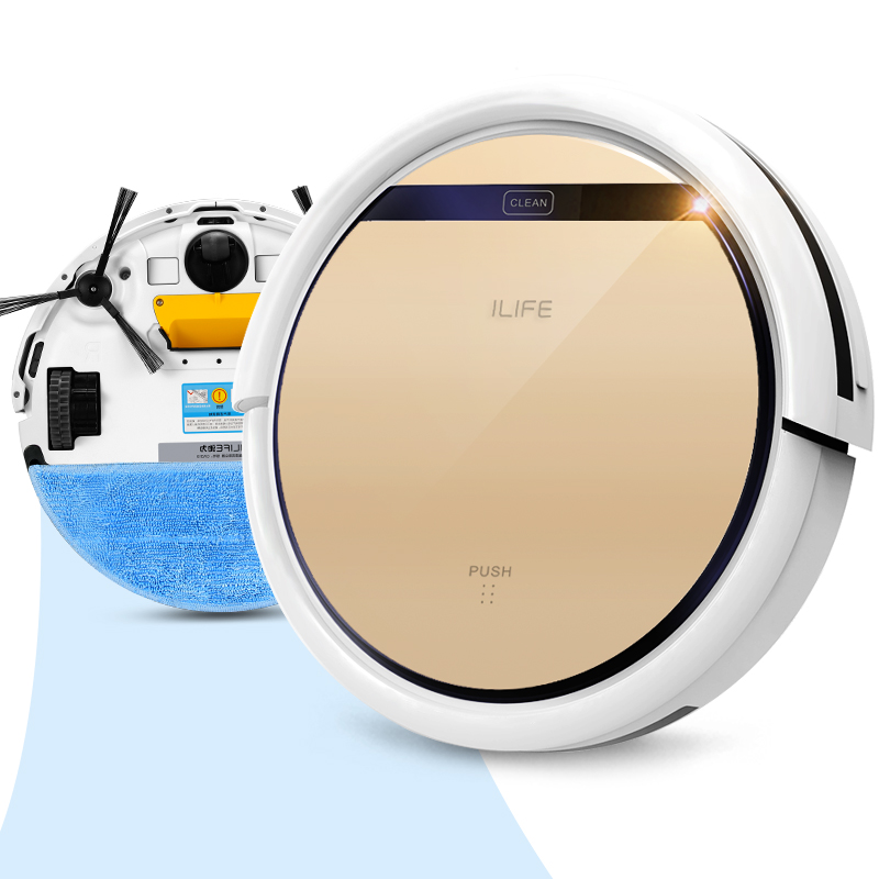 ILIFE Smart Wet Robot Vacuum Cleaner Wet and Dry Clean MOP Water Tank HEPA Filter,Ciff Sensor,Self Charge V5 PRO ROBOT ASPIRADOR(China (Mainland))