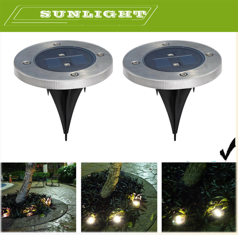 LED Outdoor Solar Led Lamps Ground Lamp New LED Garden Lawn Light Tempered Glass Solar Powered Led Underground Lights(China (Mainland))