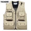 2016 New Summer Mesh Vest Multi pocket Out door Vest Photography Vest Working Waistcoat men vest
