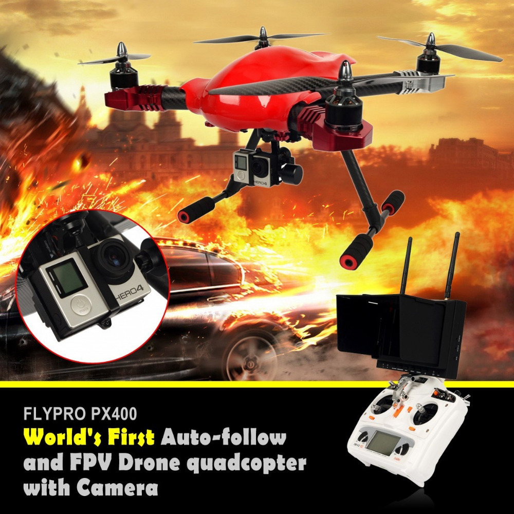 FLYPRO PX400 Standard World's First Auto-follow FPV Drone quadcopter rc helicopter drone with Camera PK DJI inspire 1(China (Mainland))