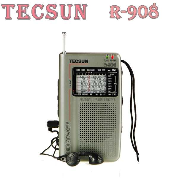 TECSUN R-908 AM/ FM / SM / MW (9 bands) Multi Bands Radio Receiver Broadcast With Built-In Speaker R908 radio(China (Mainland))