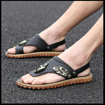 2015 New Fashion Men Shoes Buckle Strap Flats Male Sandals Summer Open Toe Shoes Breathable Men Casual Flip Flops