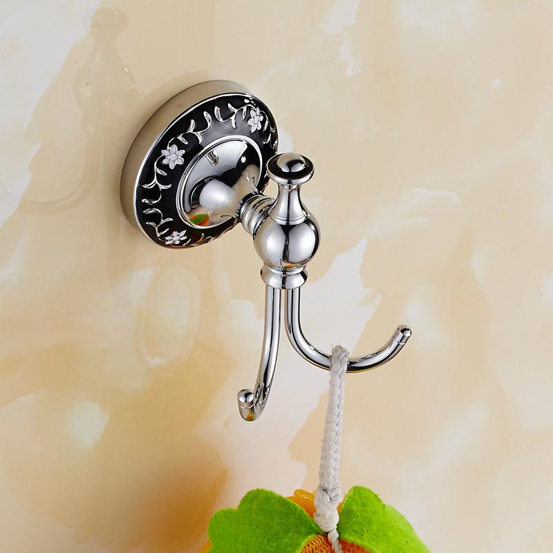 New Design Robe Hook Brass Chrome Finish Coat Hook Hardware Robe Hooks,Bathroom Accessories home Decoration(China (Mainland))