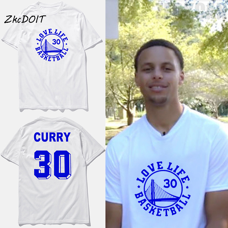 New fashion #30 Stephen Curry jersey basketbal t shirt love life Golden State pattern tops tees men clothing,tx2394(China (Mainland))