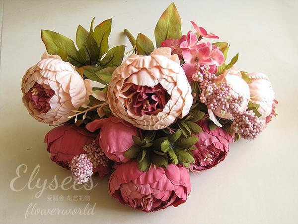 Large silk flowers promotion shop for promotional large for Boutique decoration