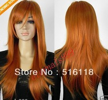 Free Shipping New- Stylish long Red Brown Straight women's Cosplay Wig/Wigs (China (Mainland))