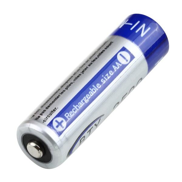 Wholesale 1Pcs AA 2500mAh 1.2V NI-MH NIMH Rechargeable Batteries(China (Mainland))