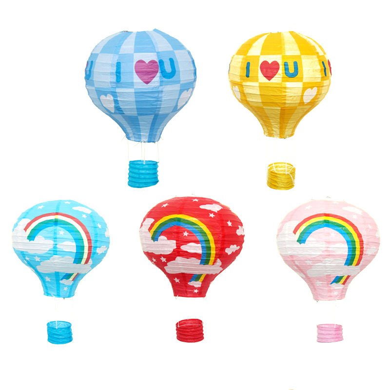12inch(30cm) Paper Lantern Sky Lanterns Rainbow Hot Air Balloon Style Home Party/Wedding/Birthday/Christmas Decoration Supplies(China (Mainland))