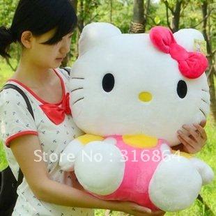 Christmas gift soft plush toys stuffed toys hello kitty plush toy hot sell factory supply freeshipping(China (Mainland))