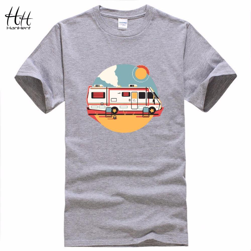 Shirt design for man 2016 - Hanhent 2016 Design Breaking Bad Tshirts Man Funny Chemistry T Shirt Fashion Heisenberg Car Short Sleeve T Shirts Male Creative