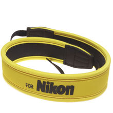 New camera full yellow Neoprene Neck Strap Belt for nikon D100 D300 D80 D90 D5100 D7000