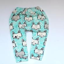 KIKIKIDS Baby Boys&Girls  Fox& Triangle Pattern Harem Pants W/ 6 colors, Children clothing Toddlers Girls& Boys Harem Pants(China (Mainland))