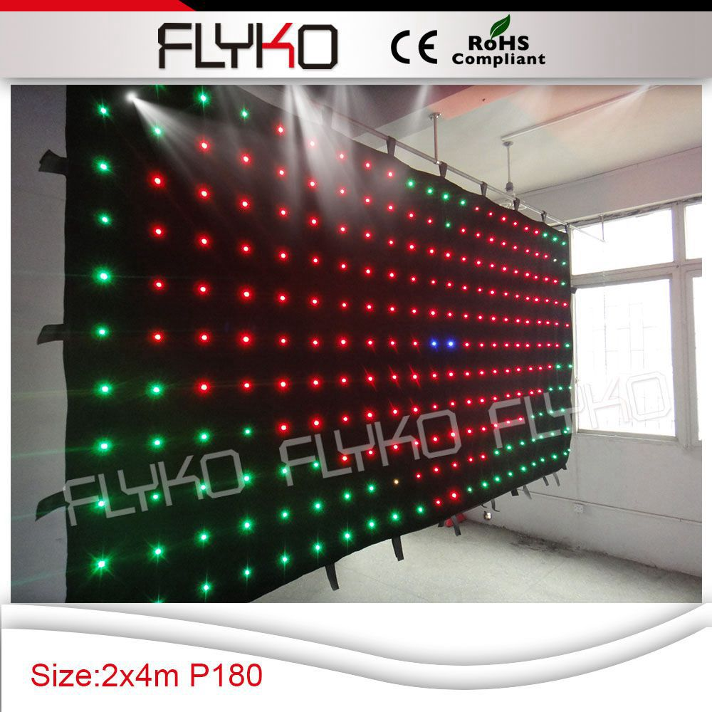 Free shipping p18 4x2m best price flexible indoor led video cloth,text, gif display(China (Mainland))