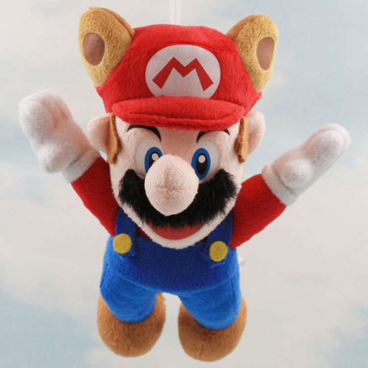 20CM 1P/Set Super Mario Plush Fly Sky Mario And Luigi Wear A Hat Three Color To Choice JP Anime Toys(China (Mainland))