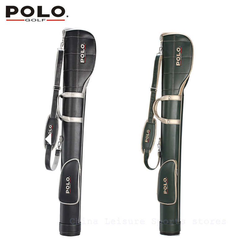 POLO Authentic High Quality Golf Gun Bags PU Waterproof Men Travelling Cover 5-6 Clubs Small 127cm Golf Bag Bolsa De Sport Bag(China (Mainland))