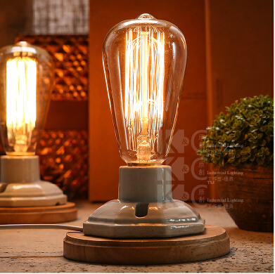 Vintage loft edison lampadina lampada da tavolo - Lampada da tavolo vintage ...