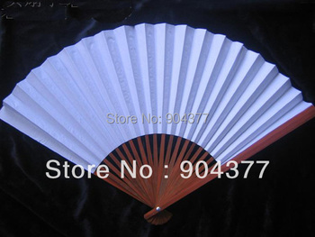 Children DIY Fine Art Painting Blank White Paper Folding Hand Fan    10pcs/lot Free shipping