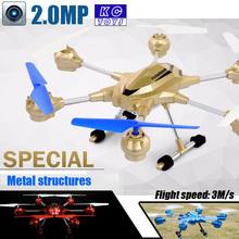 Kc jouets métal alliage Drone 2.4 G 4ch 6 axe Venture avec caméra RC Quadcopter RTF RC hélicoptère