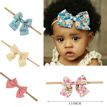 Buy 10 Pcs/lot Boutique Nylon Headband Fabric Hair Bow Girls Hair Accessories Kids Nylon Elastic Headband for $7.95 in AliExpress store