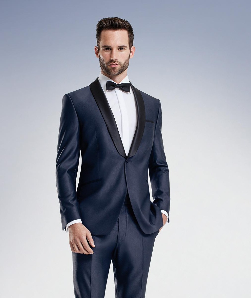 Blue Wedding Tux: Midnight Blue Wedding Suits Mens Suit Slim Fit 2015 Groom