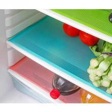 4 pcs / lot 29cm*45cm Multifunction Refrigerator Pad Mat Fridge Anti-fouling Anti Frost Waterproof Pad Kitchen Table Eat Mats(China (Mainland))