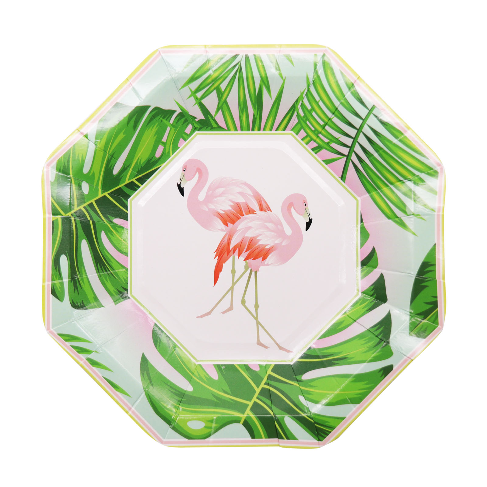 8 x Flamingo Round Disposable Paper Plates Summer Beach Party Tableware DIY