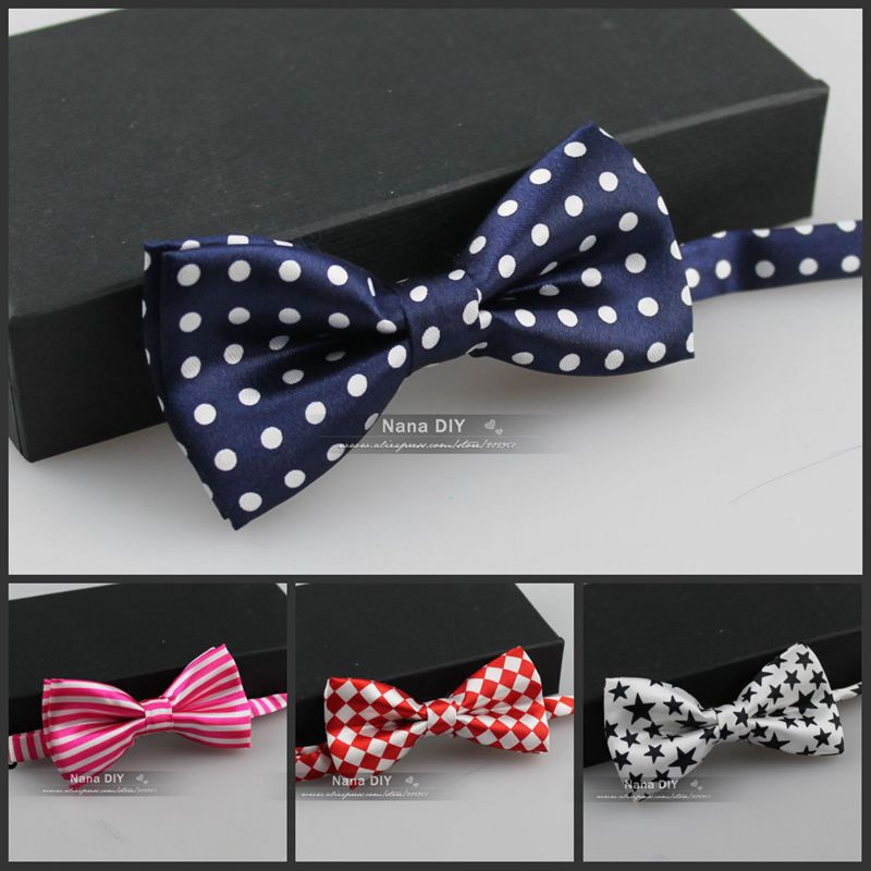 Retail- 50 colors available Fashion Stripe design Big boy kid bowtie school Children Bow tie,5*9cm free shipping(China (Mainland))