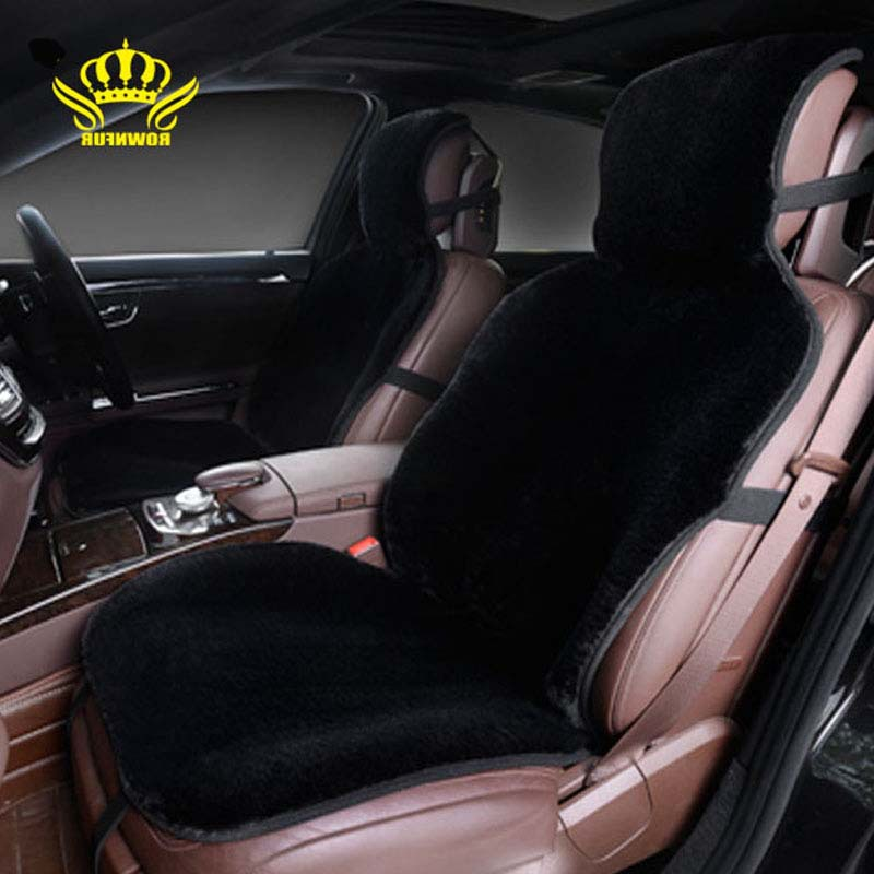 1pcs for one front car seat covers faux fur cute car interior accessories cushion styling winter. Black Bedroom Furniture Sets. Home Design Ideas