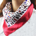 Essential Hot Satin Silk Square Scarf Women Fashion Four Seasons Rainbow Lattice Silk Satin Scarves