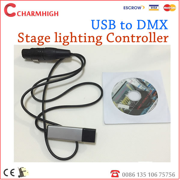 USB to DMX Interface Adapter LED DMX512 Computer PC Stage Lighting Controller Dimmer(China (Mainland))