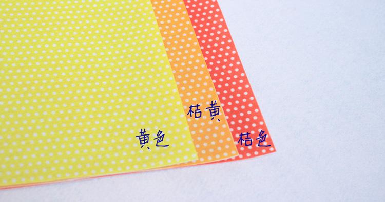 New arrival 18 colors polka dot high quality printed felt for Polka dot felt fabric