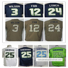 12th Fan 24 Marshawn Lynch 25 Richard Sherman 29 Earl Thomas 31 Kam Chancellor 88 Jimmy Graham(China (Mainland))