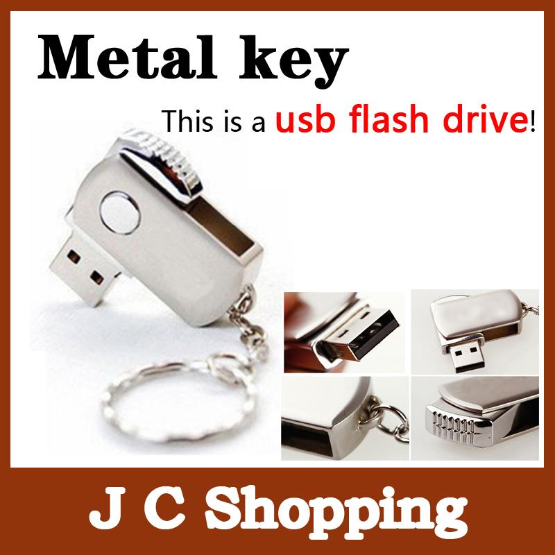 Garunk New Swivel Metal Key Chain USB Flash Drive 4G 8G 16G 32G Pen Drive flash card Pendrive Card Memory Stick Drives MicroData(China (Mainland))