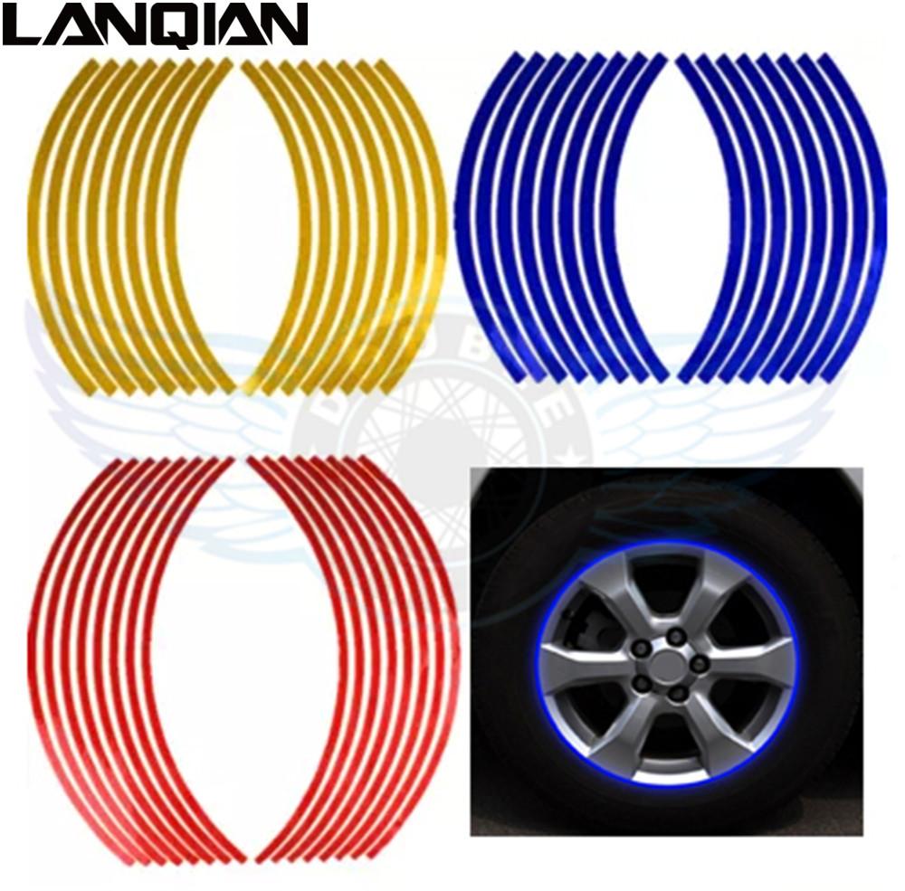 17/18 inch Wheel Stickers Reflective Rim Stripe Tape Bike Motorcycle Car For Kawasaki z800 z750 z250 z1000 er6n er6f er 6f 6n(China (Mainland))